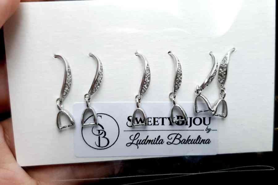 Genuine 925 Sterling Silver Clasp Hook Earrings Findings 9