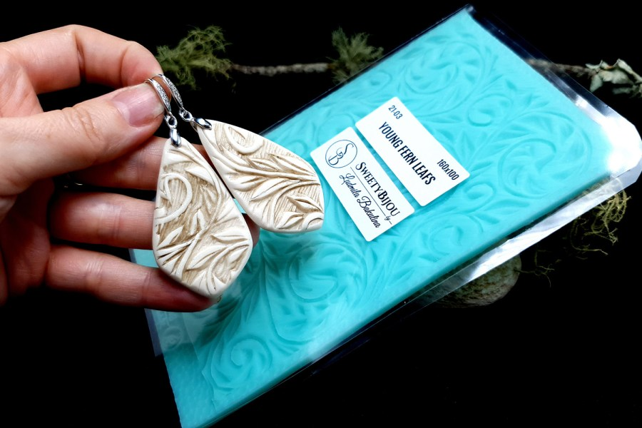 """Silicone Texture """"Young Fern Leafs"""""""