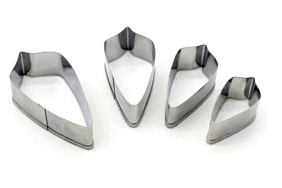 4-pcs Stainless Steel Jewelry Shapes Cutters 12