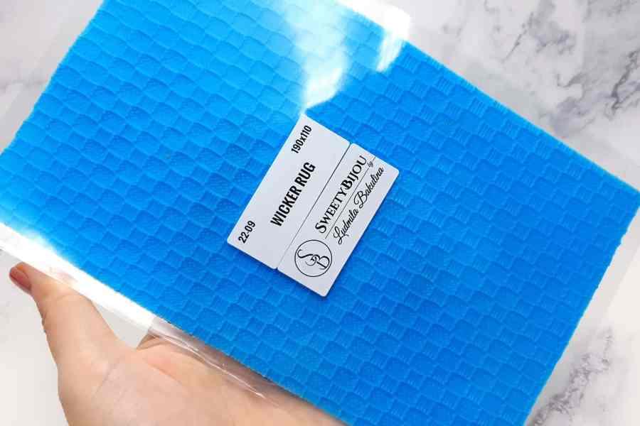 Super Thin Texture - Wicker Rug (190x110) 2