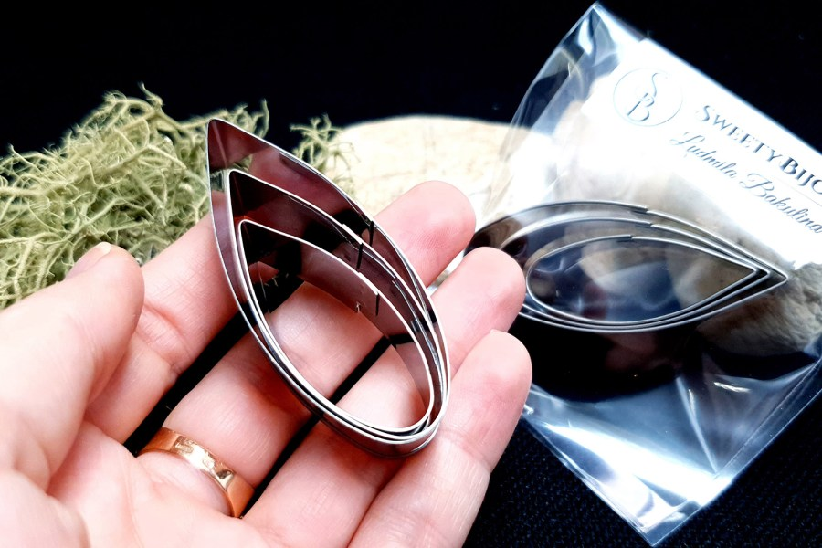 Stainless Steel Jewelry Petal Shapes Cutters (2) 7