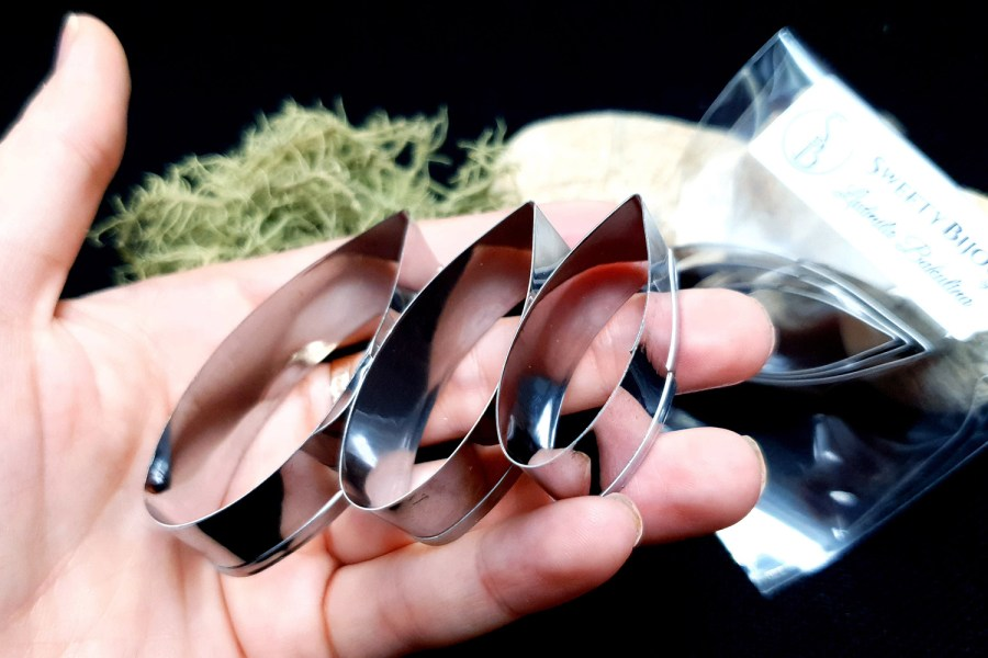 Stainless Steel Jewelry Petal Shapes Cutters (2) 10