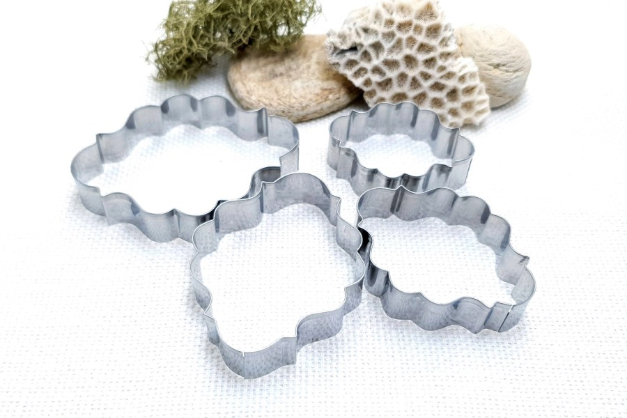 4 pcs Stainless Steel Oval Shaped Cookie Cutters 9