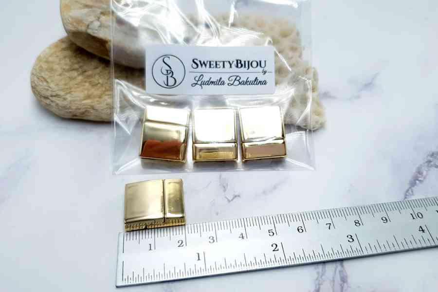 3 pcs set of golden color magnetic clasps (short) 5