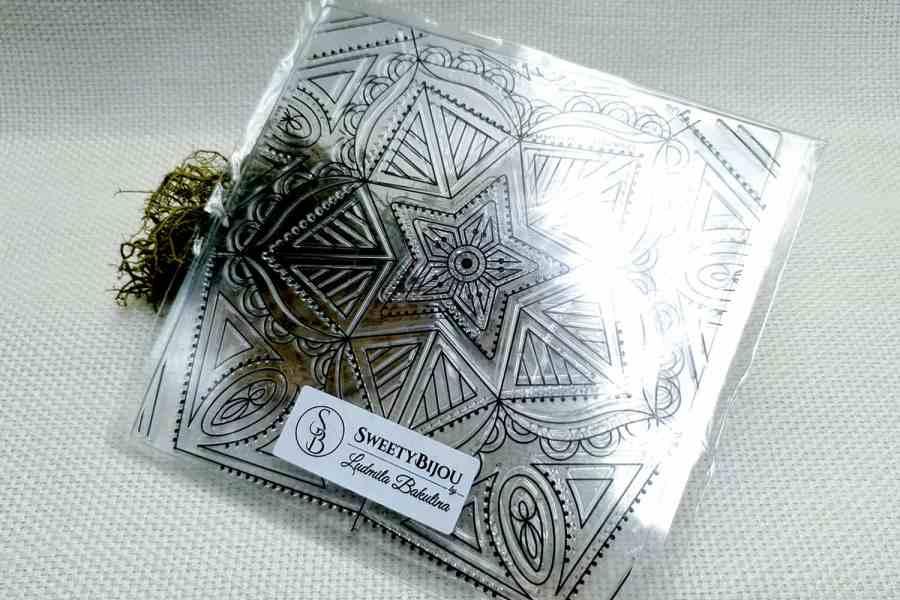 Mandala Star - Clear Silicone Stamp 3
