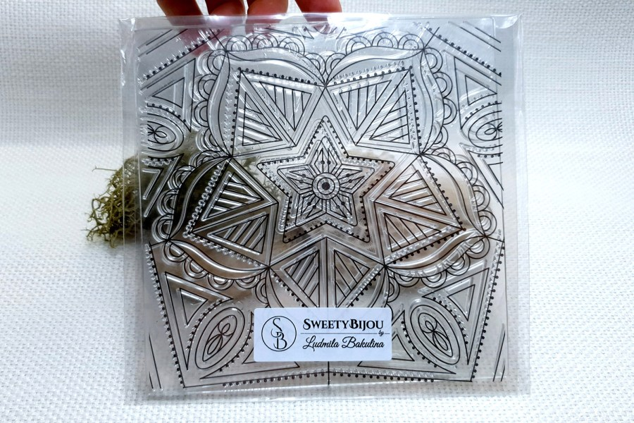 Mandala Star - Clear Silicone Stamp 6