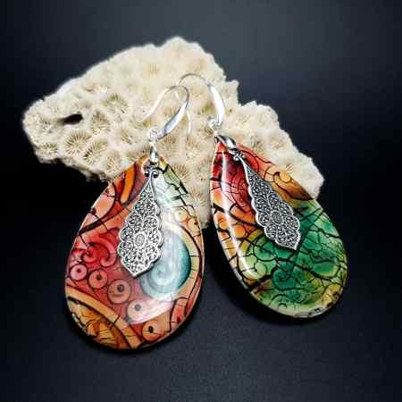 """Fantazy Ceramic"" Polymer clay Earrings"