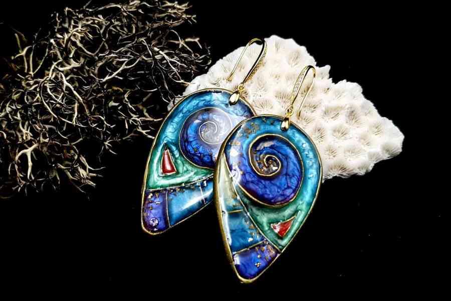 """Magic Swirls"" polymer clay earrings 11"
