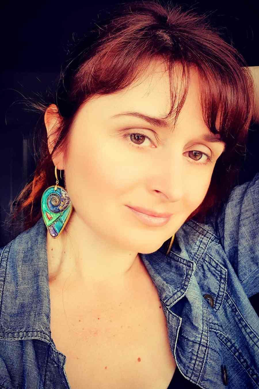 """Magic Swirls"" polymer clay earrings 9"