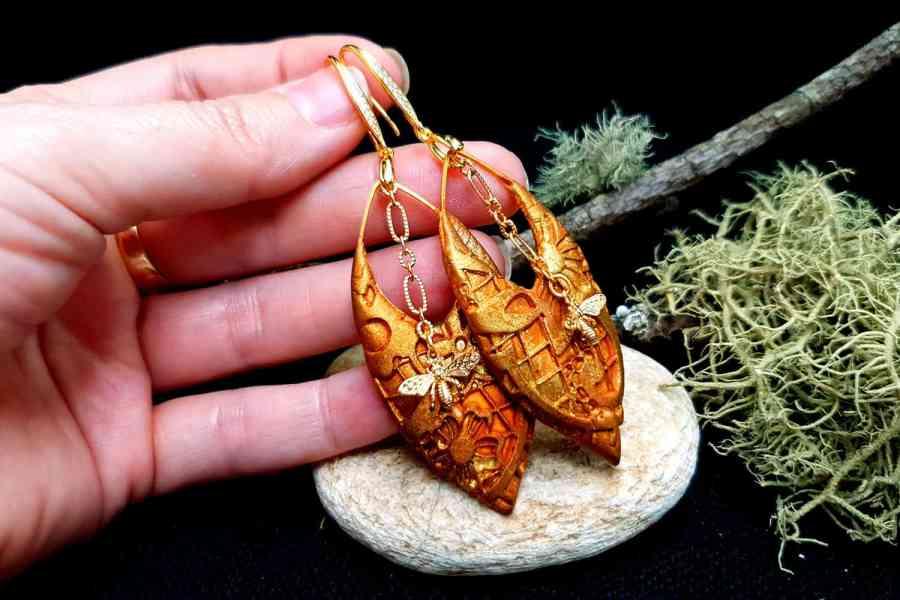 """Earrings """"Eldorado"""" with Bees 3"""