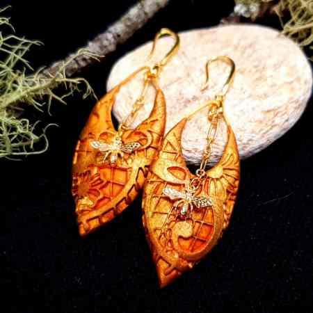 """Earrings """"Eldorado"""" with Bees"""