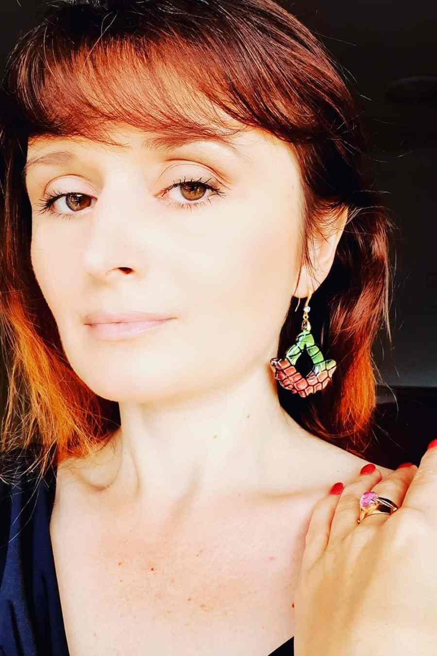 "Earrings ""Magic Flowers"" 13"