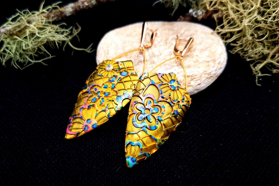 "Earrings ""Rainbow Flowers"""