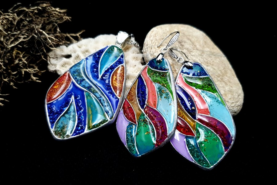 """Colorful Holidays"" Polymer clay earrings 1"