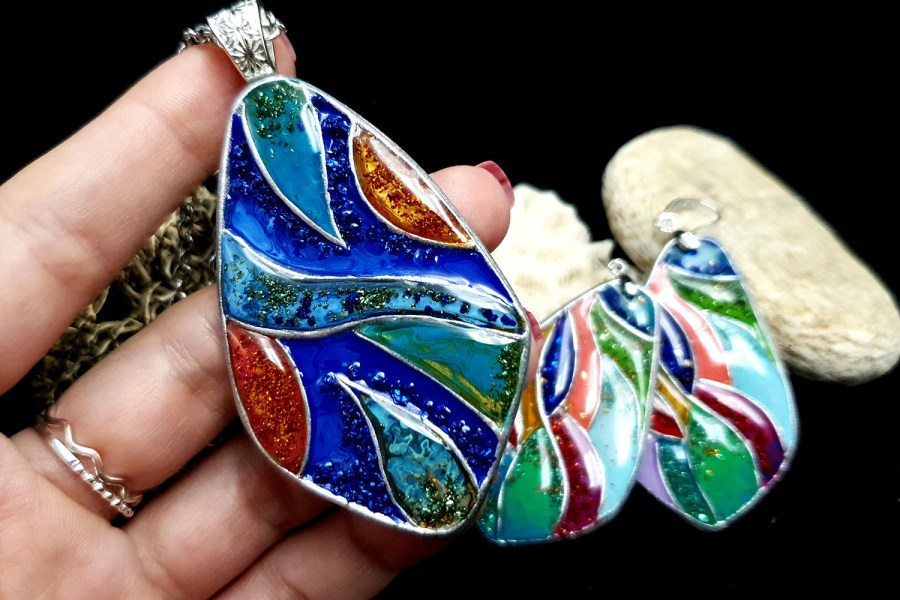 """Colorful Holidays"" Polymer clay earrings 5"