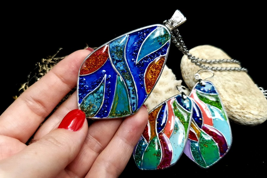 """Colorful Holidays"" Polymer clay earrings 6"