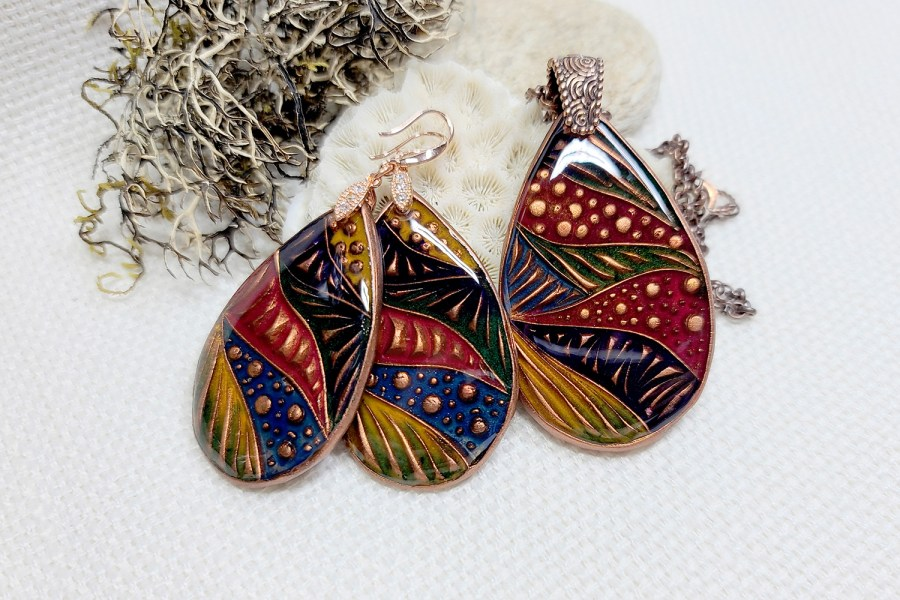 """Colorful Doodle"" Earrings 1"