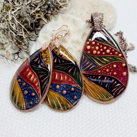 """""""Colorful Doodle"""" Earrings"""