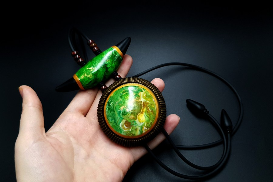 "Long Pendant ""The Magic Forest"" 3"