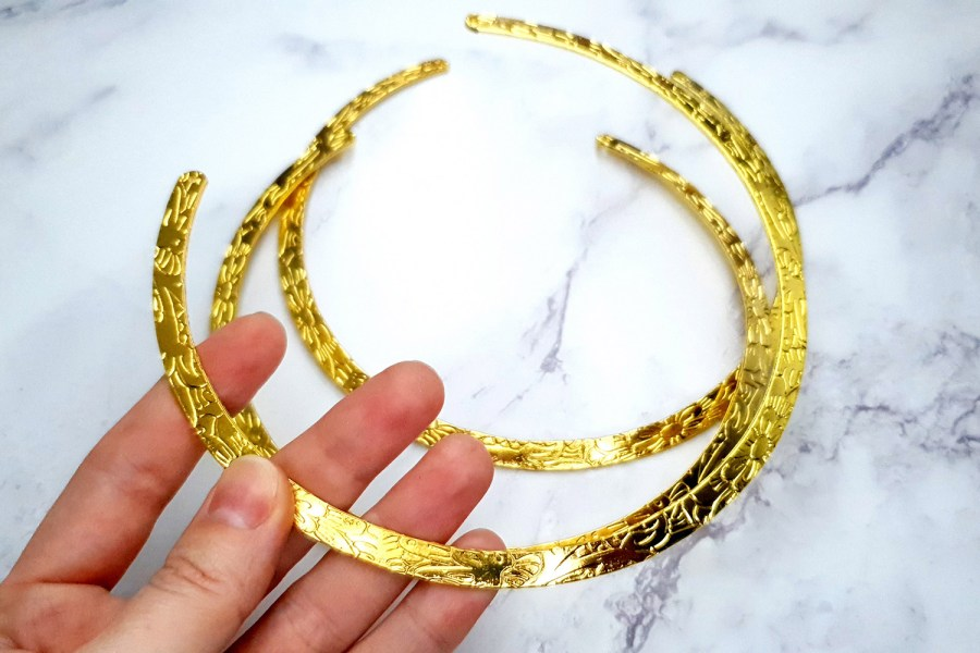 3 Pieces Of Golden Metal Necklaces For Pendant 11