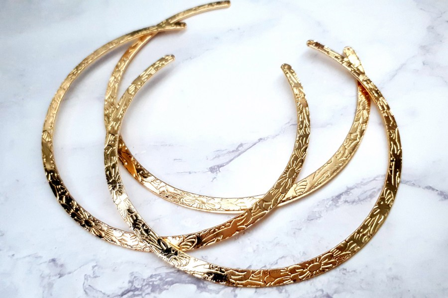 3 Pieces Of Rose Gold Metal Necklaces For Pendant