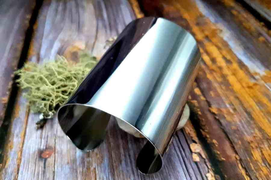 Silver Metal Smooth Big Bracelet Base