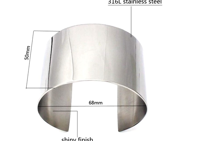 Silver Metal Smooth Bracelet Base