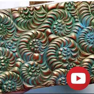 Raw polymer clay patina on metal