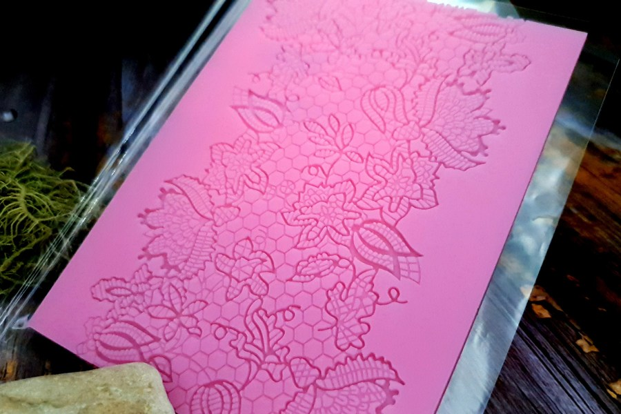 Flowers and Honey Lace Silicone Texture (110x115mm)