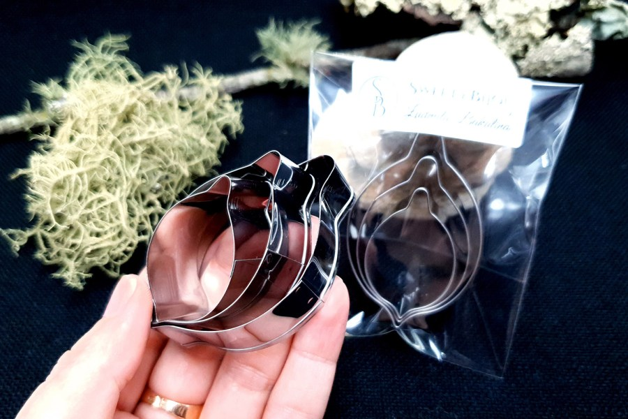 Set of 3 pcs Stainless Steel Jewelry Petal Shapes Cutters 4