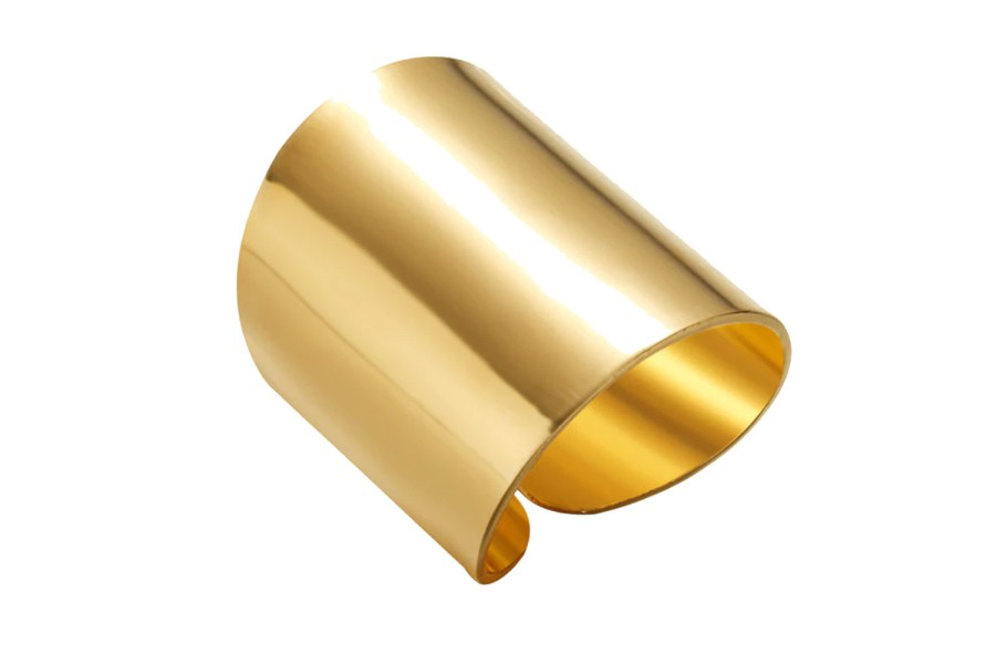 Golden color Ring cuff metal backing base 9