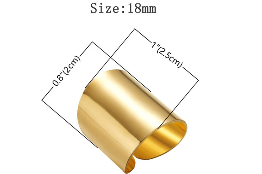 Golden color Ring cuff metal backing base 12