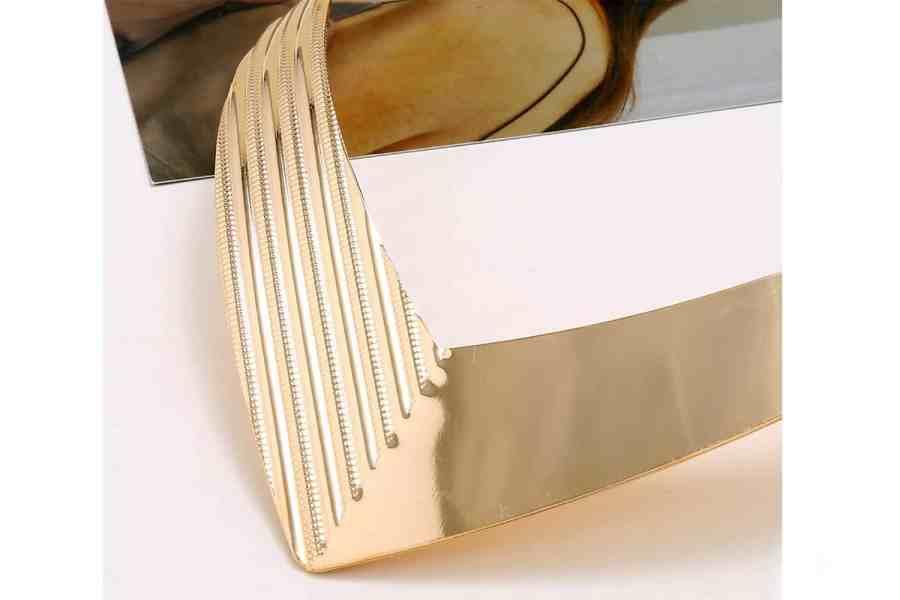 V Shape Golden color metal base necklace 12