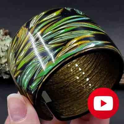 Polymer clay bracelet cuff in one baking
