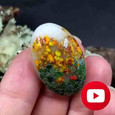 How to make Realistic Moss Agate stone imitation