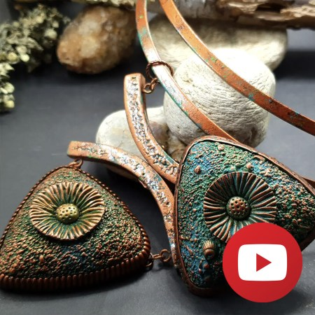 How to make beads for pendant with sand pattern