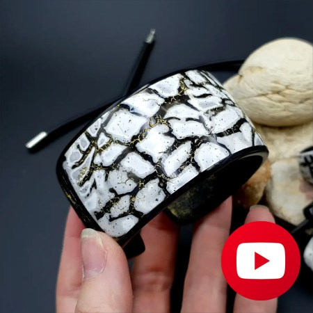 How to make polymer clay cracked marble bracelet