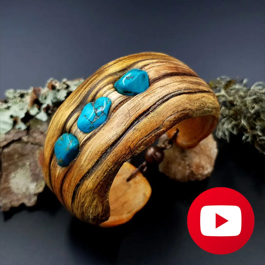 How to make polymer clay faux driftwood bracelet