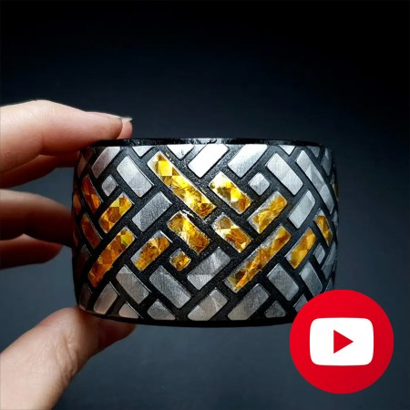 How to make polymer clay faux metal bracelet