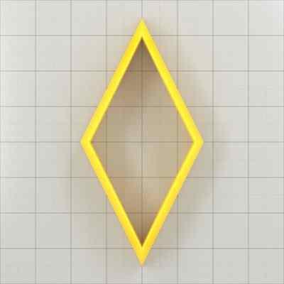 Big set of 11 plastic cutters: DIAMOND 6:3