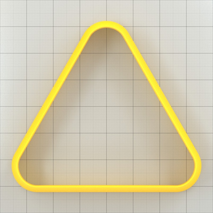 Big set of 11 plastic cutters: ROUNDED TRIANGLE