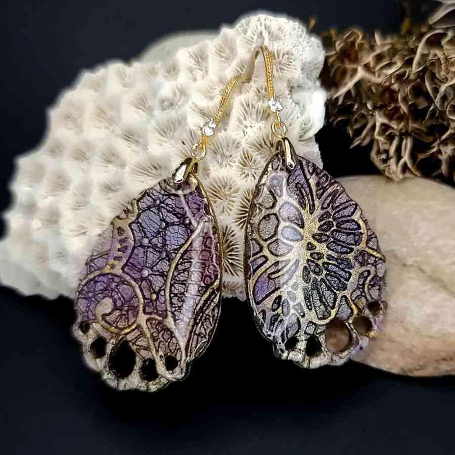 """Romantic Earrings """"Purple Lace"""""""