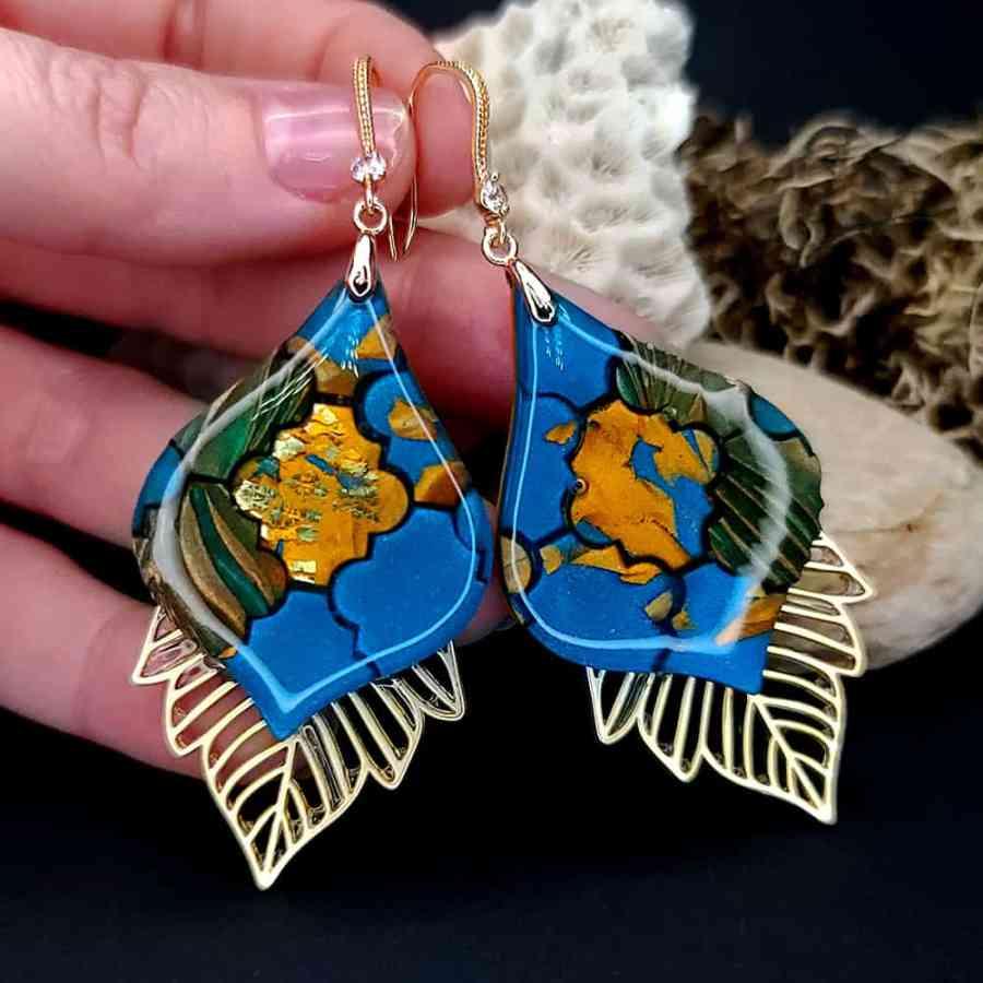 Romantic Earrings - Moroccan Mosaic - 4