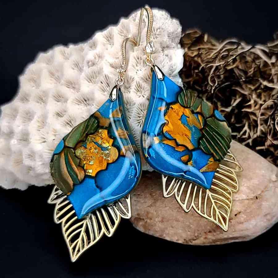 Romantic Earrings - Moroccan Mosaic - 7