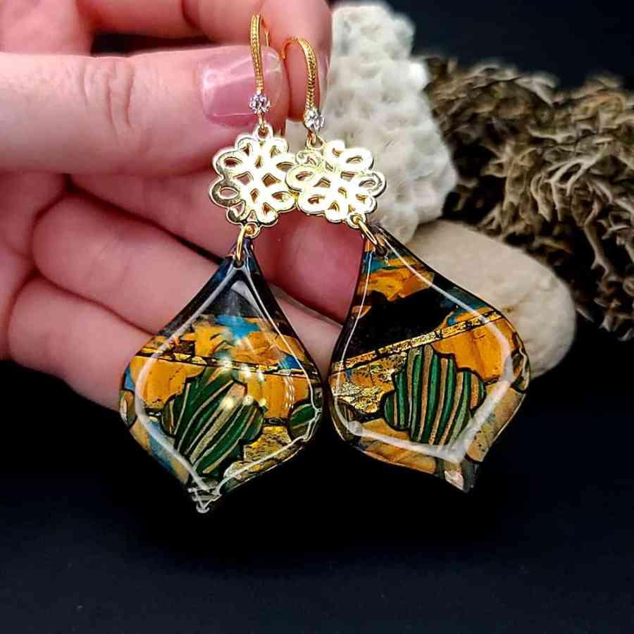 "Romantic Earrings ""Moroccan magic nights"""