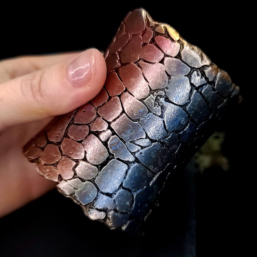 Crackle Surface - Silicone Texture (140x70mm)