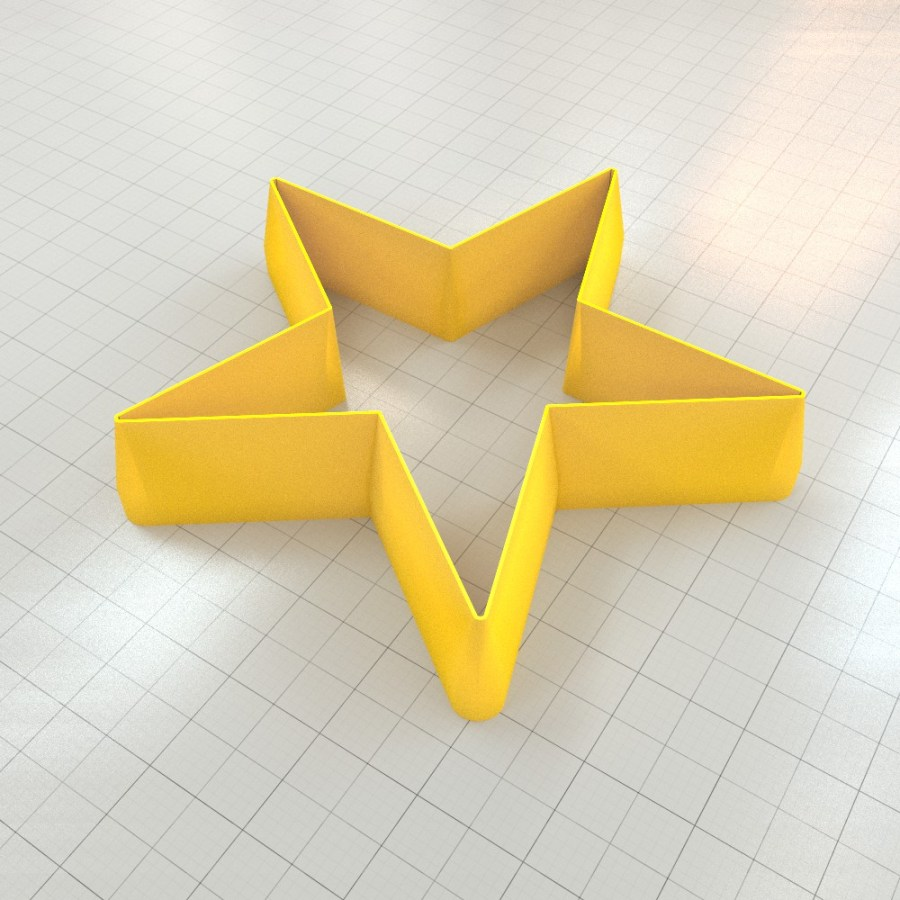 Big set of 11 plastic cutters: 5-POINTED STAR #1