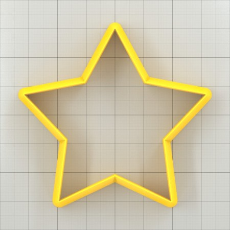 Big set of 11 plastic cutters: 5-POINTED STAR #2