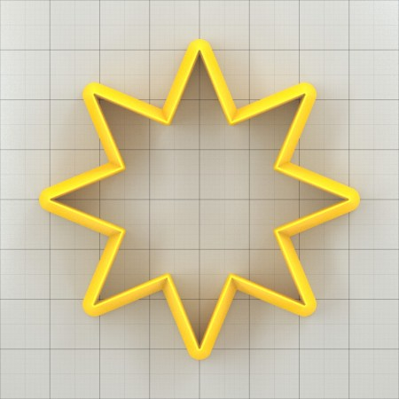 Big set of 11 plastic cutters: 8-POINTED STAR #3