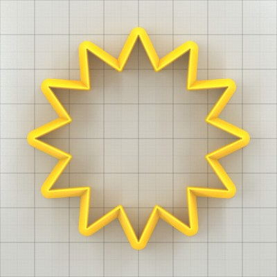 Big set of 11 plastic cutters: 12-POINTED STAR #1